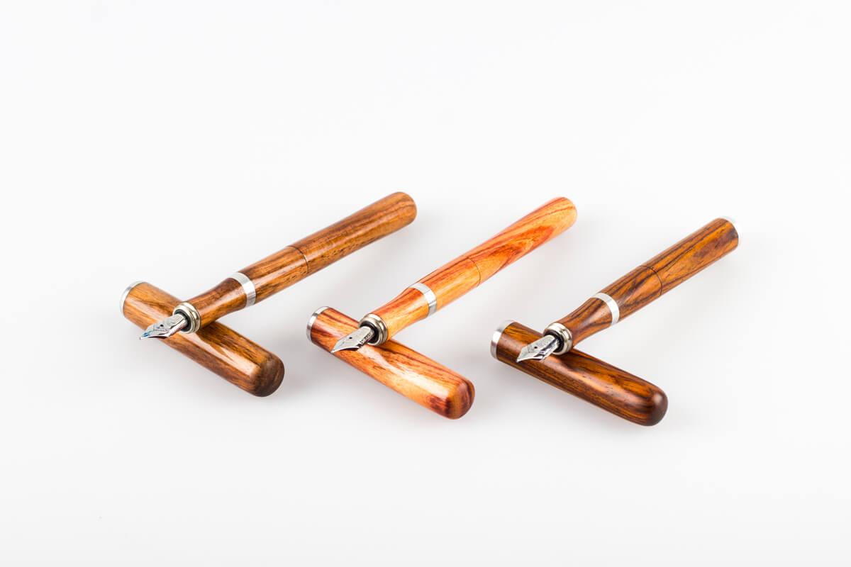 Füller aus Holz, mit einzigartigem Griffstück aus Holz